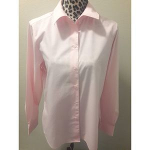 Foxcroft For Appleseeds Pink Button Down Top 12